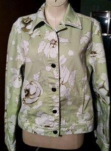 Beautiful floral jean jacket